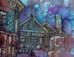Bramall Hall Art Print