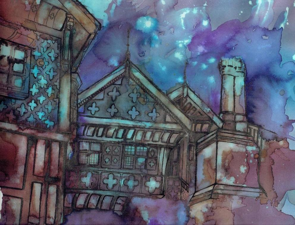 Bramhall Hall Art Print