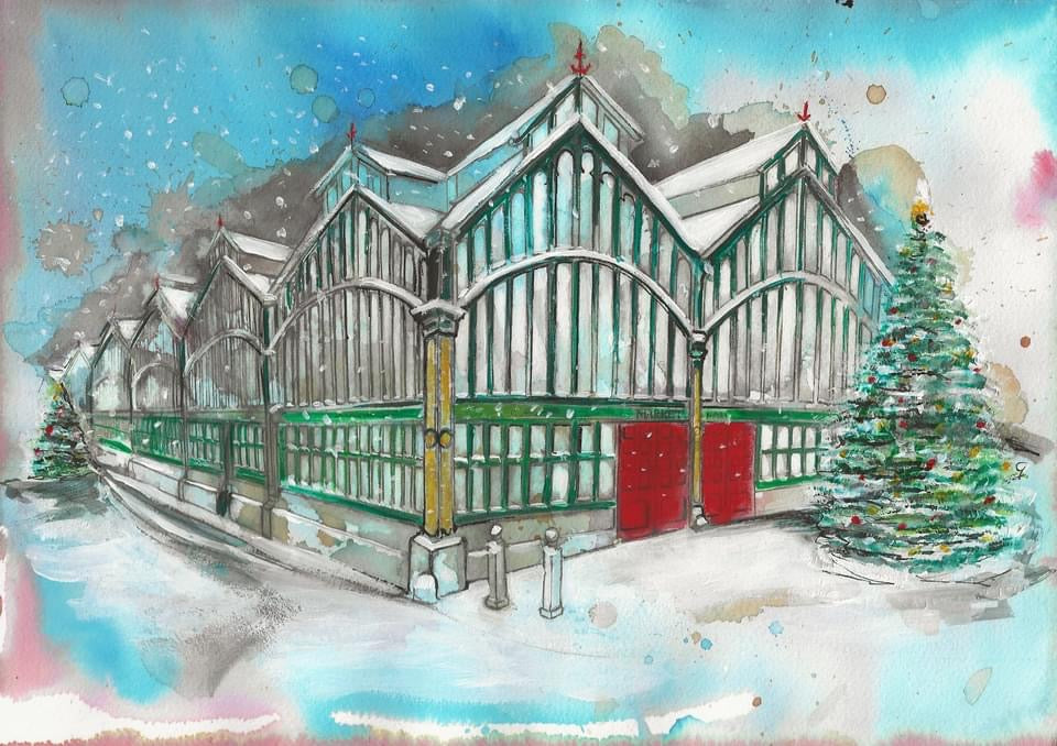 Stockport Market Hall Christmas Card