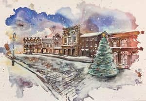 Stockport Market Place Christmas Card