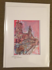 Castlefield Manchester Greetings Card