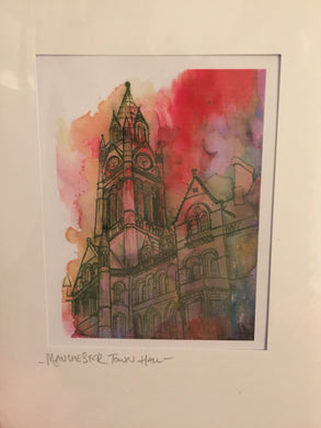 Manchester Town Hall Greetings Card