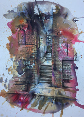 Turner's Steps, Stockport- Art Print