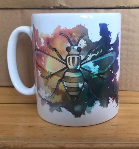 Rainbow Worker Bee mug