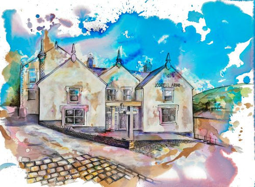 Jodrell Arms, Whaley Bridge Art Print