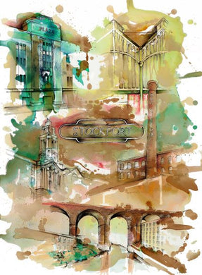 Stockport Montage Original Artwork