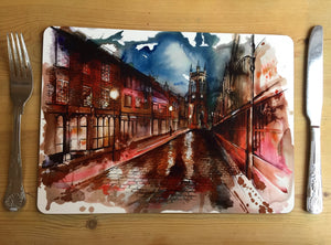 Stockport Market Place and St.Marys Church Large Placemat