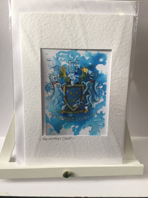 Stockport County Hatters' Crest Greeting Card