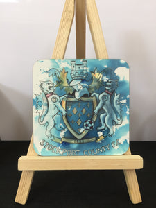Stockport County Hatters' Crest Coaster