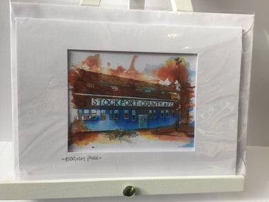 Stockport County Edgeley Park Greetings Card