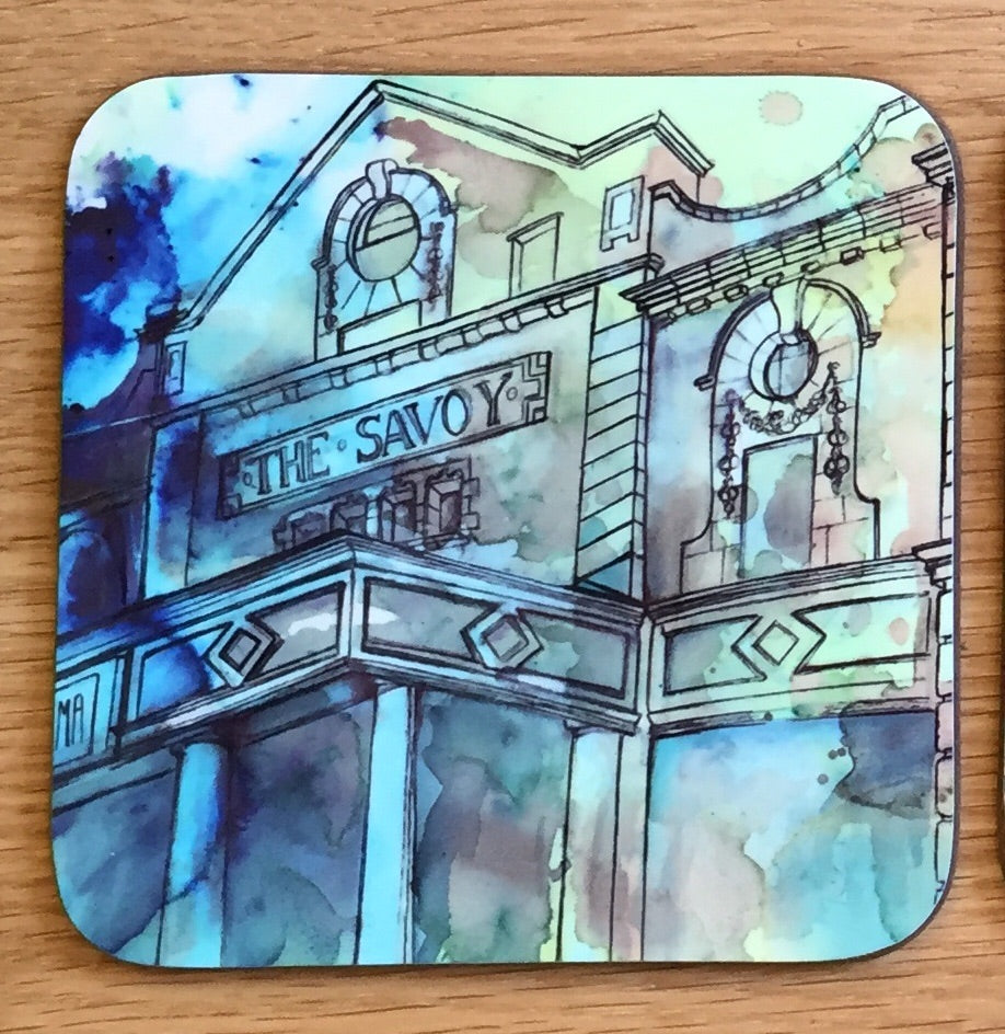 Savoy Cinema Heaton Moor Coaster- blue