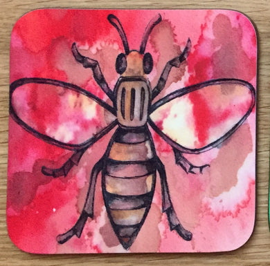 Worker Bee Coaster - Red