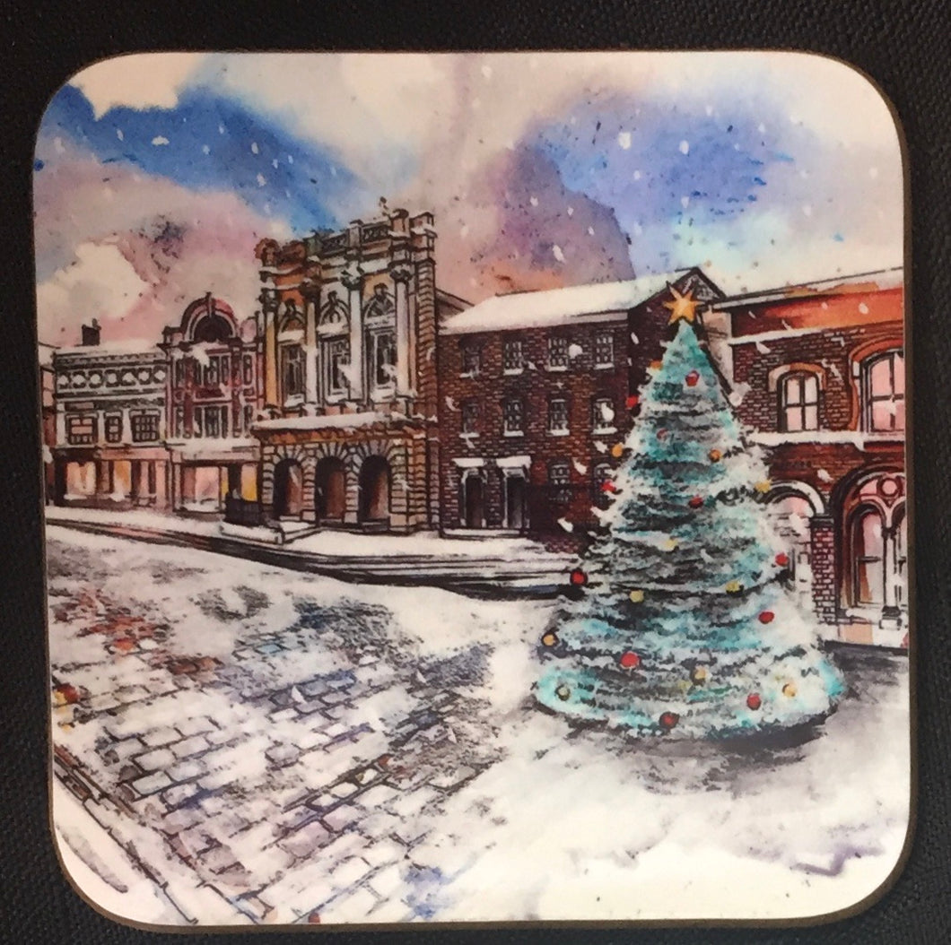 Stockport Produce Hall Christmas Coaster