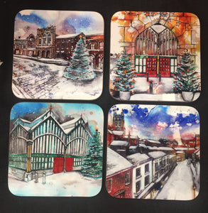 Set of 4 Stockport Christmas Coasters