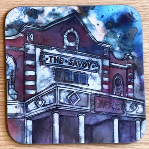 Savoy Cinema Heaton Moor Coaster- purple