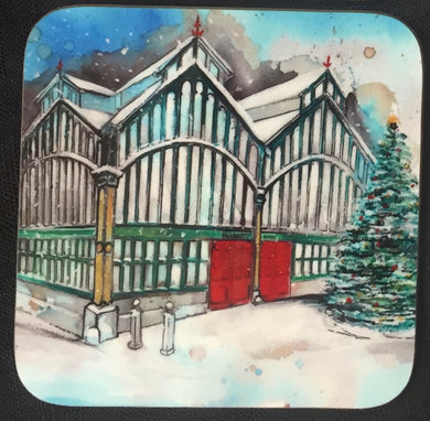 Stockport Market Hall Christmas coaster