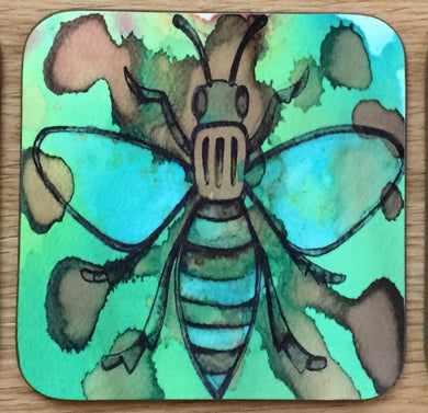 Worker Bee Coaster - Green