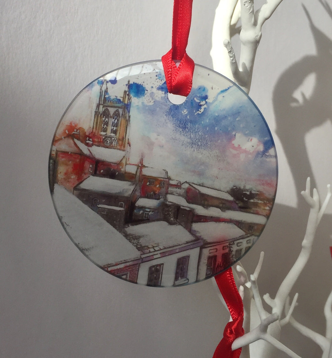 Stockport Underbank Rooftops Glass ornament