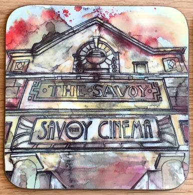 Savoy Cinema Heaton Moor Coaster- yellow