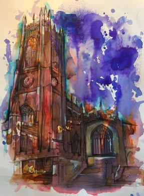 Manchester Cathedral, art print