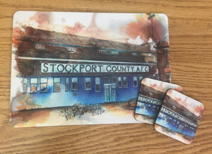 Edgeley Park large placemat and 2 coasters