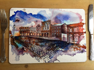 Stockport Market Place and Produce Hall Large Placemat