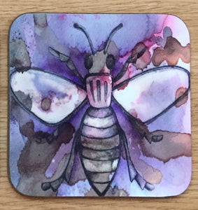 Worker Bee Coaster - Purple