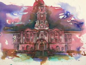 Stockport Town Hall art print