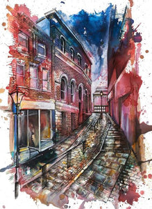 The Market Brow Stockport Art Print