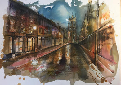 Stockport Market Place Art Print