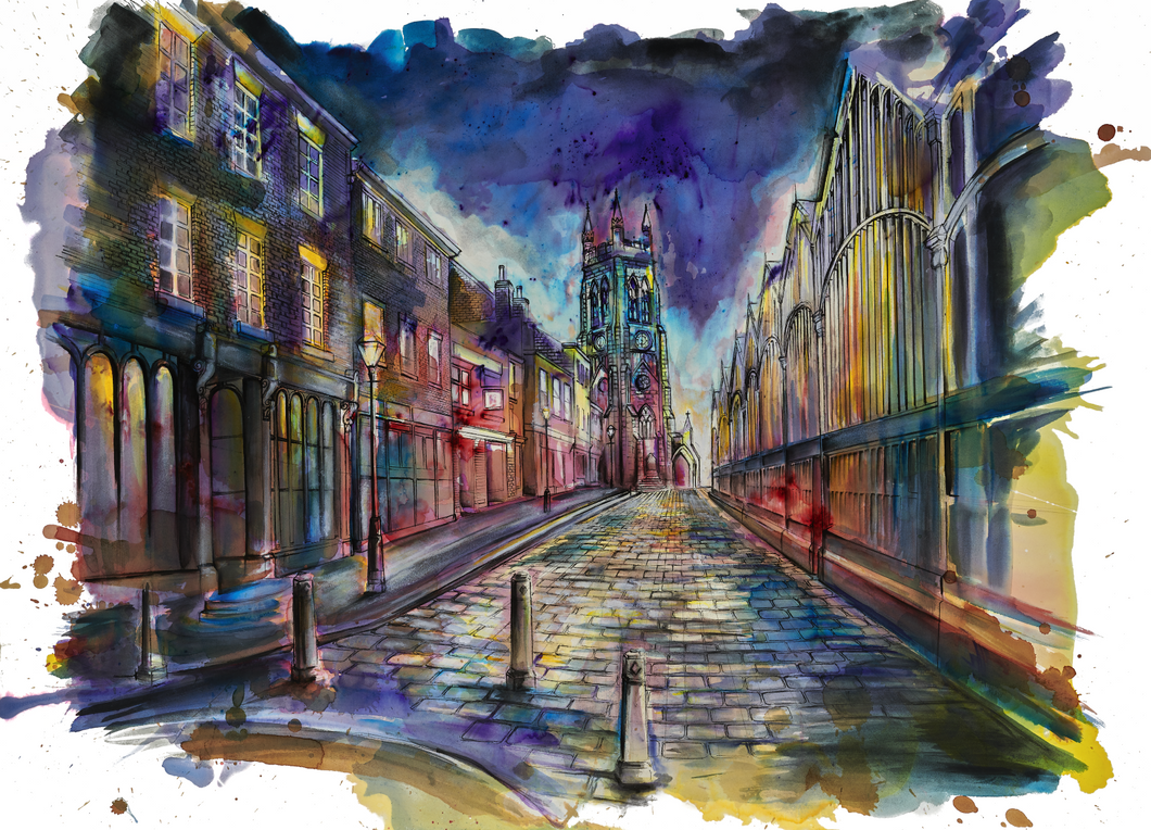 The Mile, Stockport Art Print