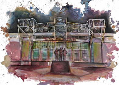 Old Trafford Football Ground, Manchester Greetings Card
