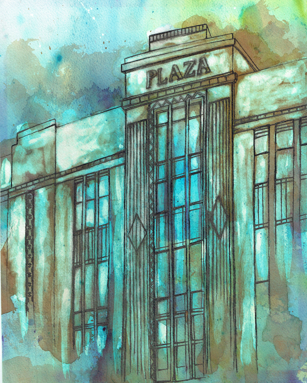 Stockport Plaza Art Print