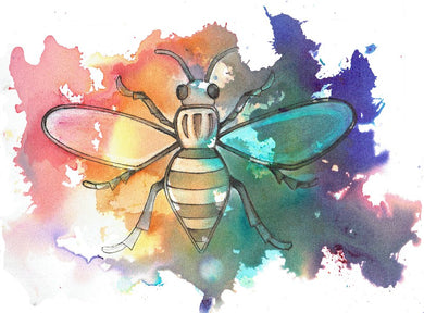Rainbow Worker Bee Original Artwork