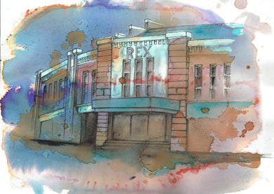 Rex Cinema, Wilmslow Art Print