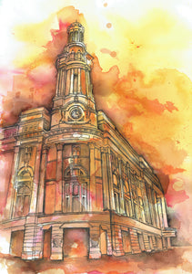 The Royal Exchange, Manchester Art Print