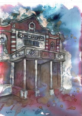 Savoy Cinema Heaton Moor Art Print
