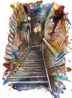 Steps to St. Petersgate Art Print