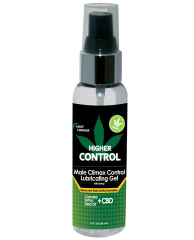 High Control Climax Control Gel for Men w/Hemp Seed Oil, 2 oz