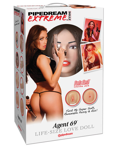 Pipedream Extreme Dollz Life Size Inflatable Love Doll, Agent 69