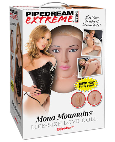 Pipedream Extreme Dollz Life Size Inflatable Love Doll, Mona Mountains