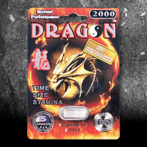 Dragon 2000 Male Enhancement Dietary Supplement, 1 pill