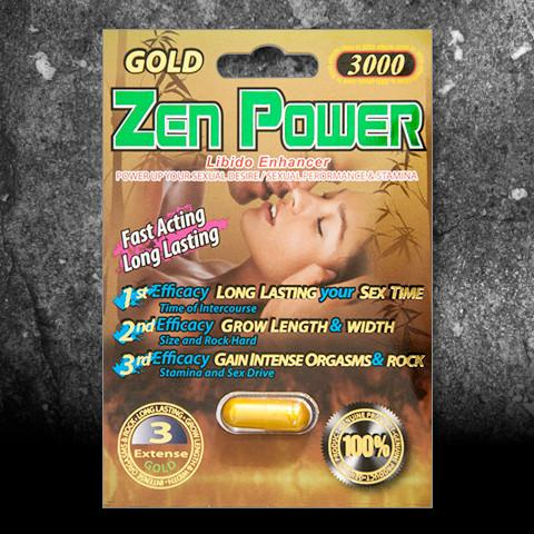 Zen Power Gold 3000 Male Enhancement Dietary Supplement, 1 pill