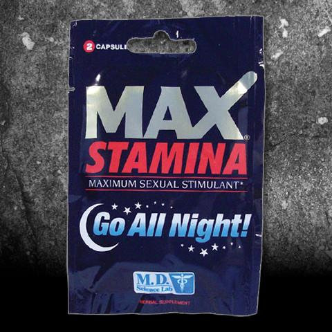 Max Stamina Male Enhancement Dietary Supplement, 2 capsules