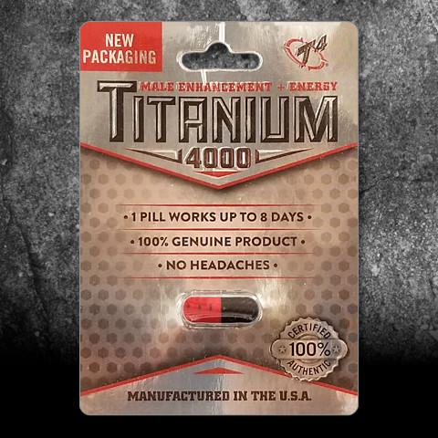 Titanium 4000 Male Enhancement Dietary Supplement, 1 pill