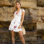 Casual Boho Flower Dress