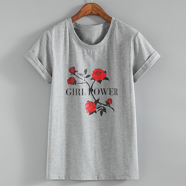Girl Power Rose T-shirt