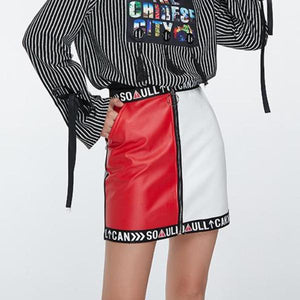 Punk Leather Skirt
