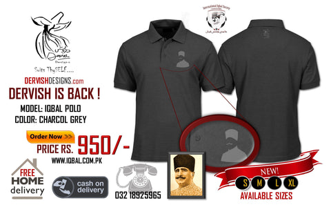 Iqbal Silhouette Polo Shirt Charcoal Grey