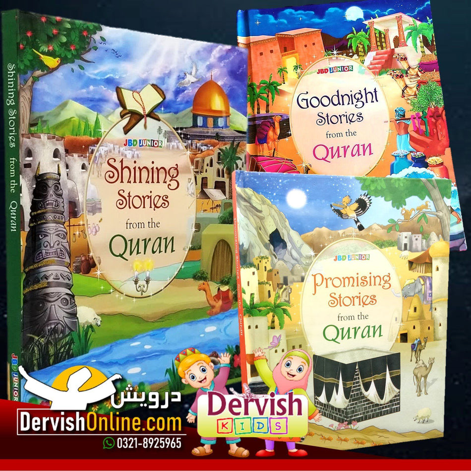 Stories From Quran - Kids 3 books Set Books Dervish Kids